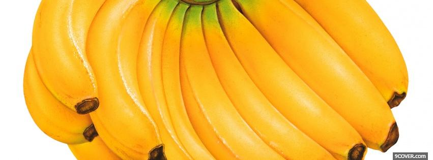 Photo yellow bananas food Facebook Cover for Free