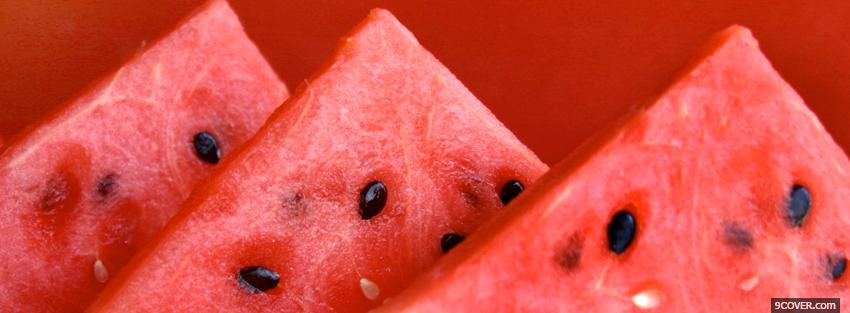 Photo yummy watermelons food Facebook Cover for Free