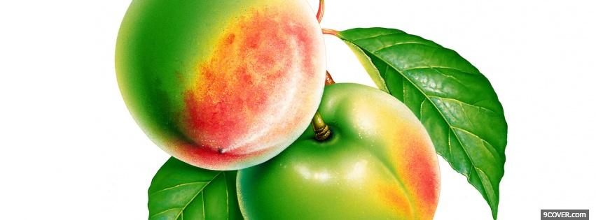 Photo riped apples food Facebook Cover for Free