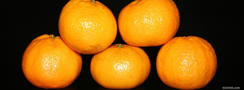 Photo clementine pyramid food Facebook Cover for Free