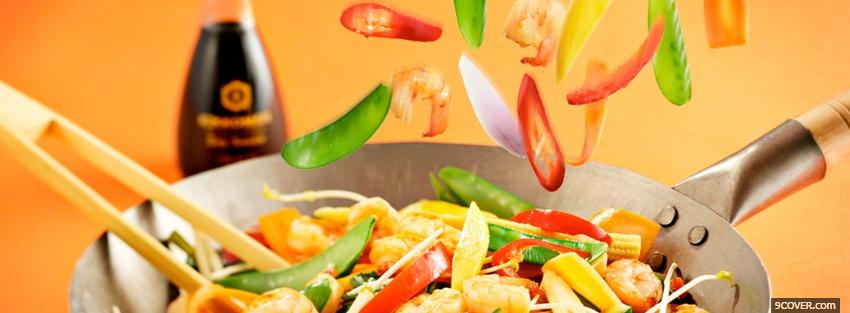 asian cooking food Photo Facebook Cover