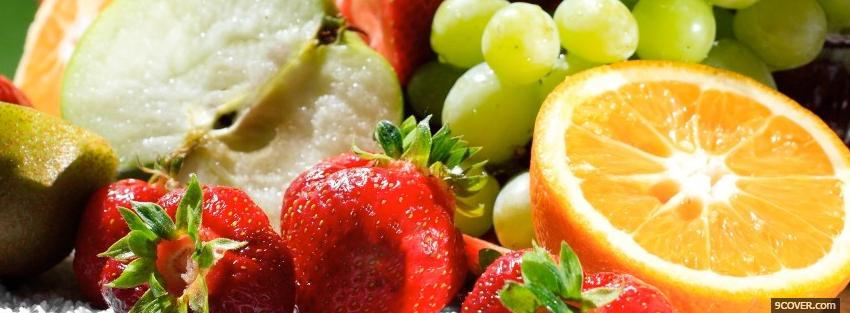 Photo delicious fruits food Facebook Cover for Free