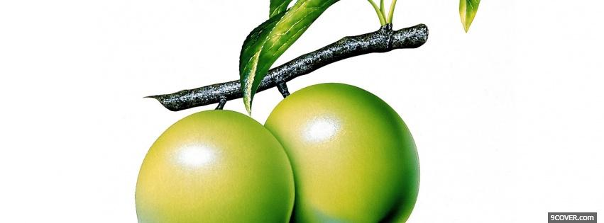 Photo green fruits Facebook Cover for Free