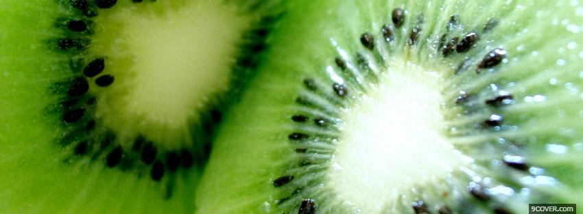 Photo tasty kiwi pieces Facebook Cover for Free