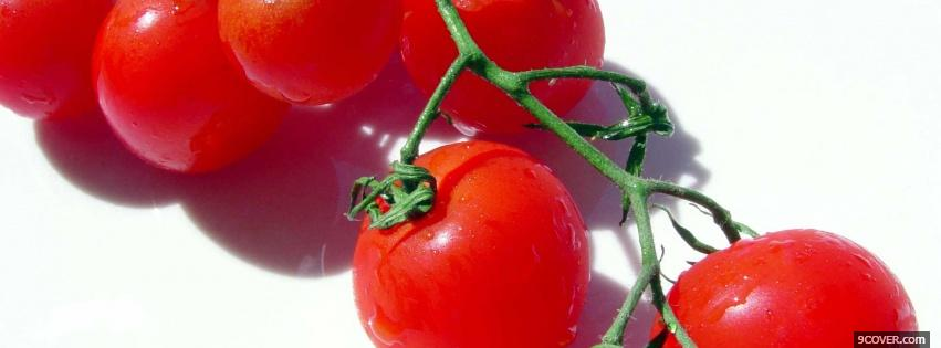 Photo cherry tomatoes Facebook Cover for Free