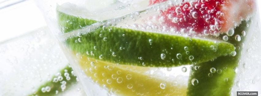 Photo refreshing fruits in water Facebook Cover for Free