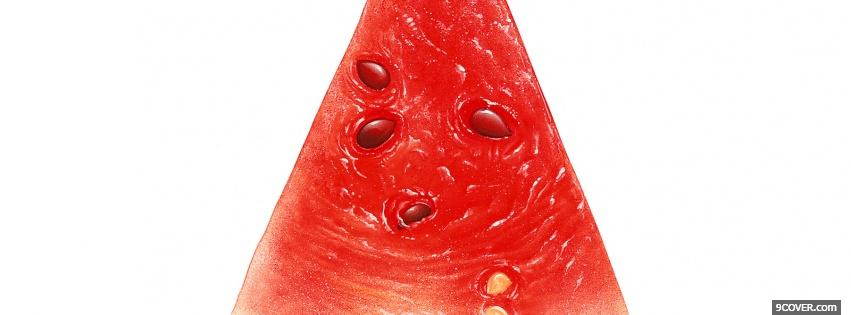 Photo single watermelon food Facebook Cover for Free