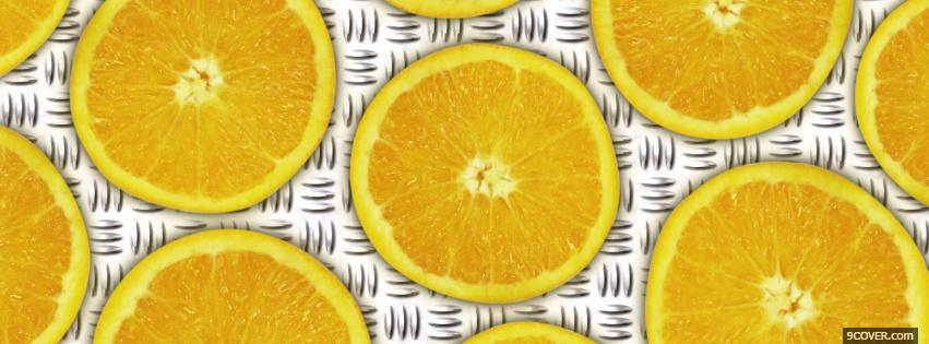 Photo sliced oranges food Facebook Cover for Free
