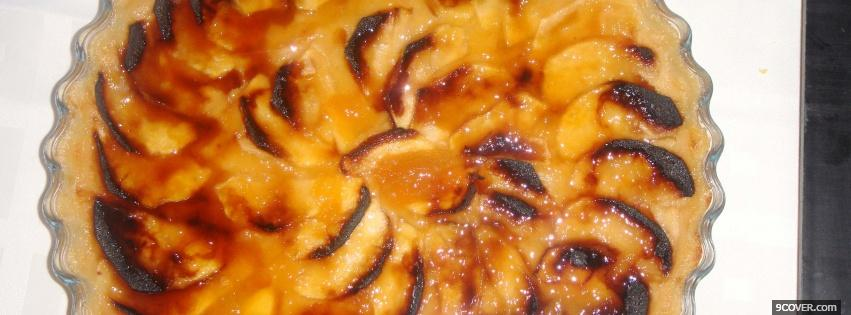 Photo tarta de manzana food Facebook Cover for Free