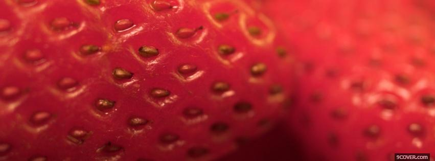Photo strawberry close up Facebook Cover for Free