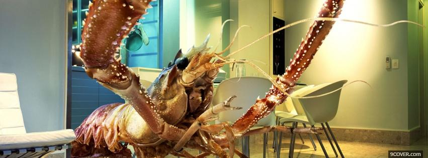 Photo big crab food Facebook Cover for Free