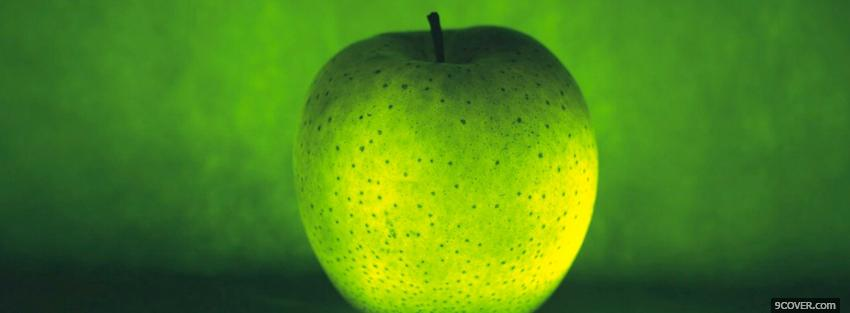 Photo green apple food Facebook Cover for Free