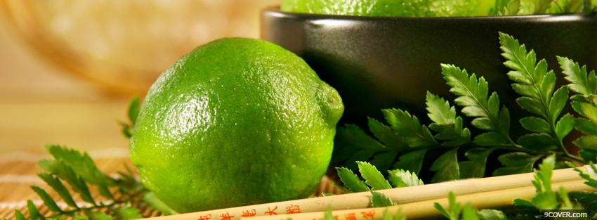 Photo zesty lime food Facebook Cover for Free