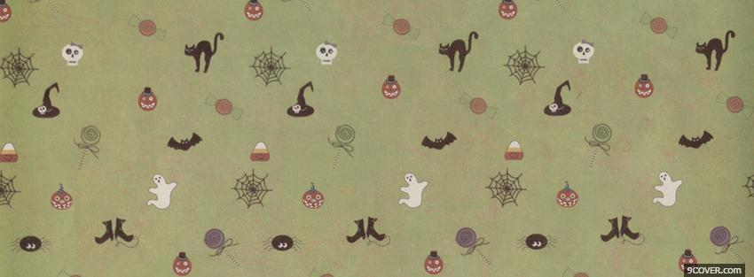 Photo halloween pattern Facebook Cover for Free