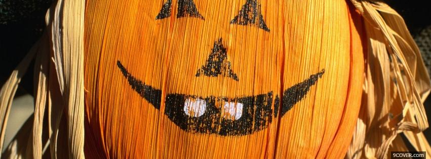 Photo pumpkin smile halloween Facebook Cover for Free