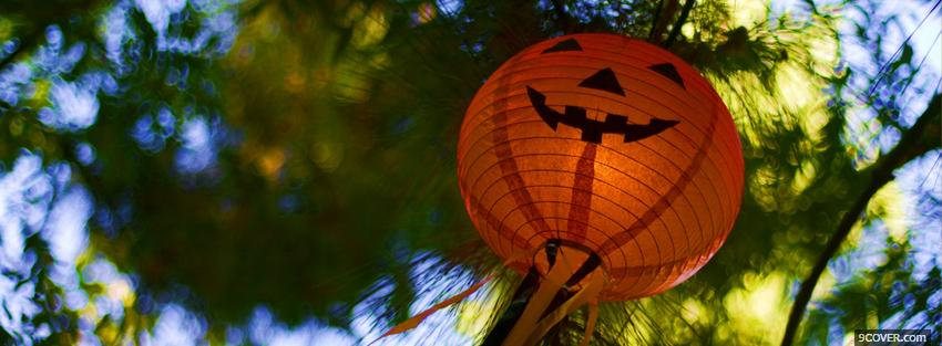 Photo halloween pumpkin in tree Facebook Cover for Free