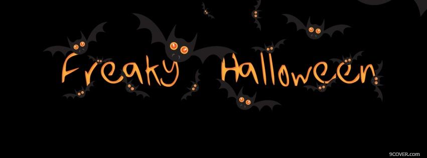 Photo freaky halloween Facebook Cover for Free