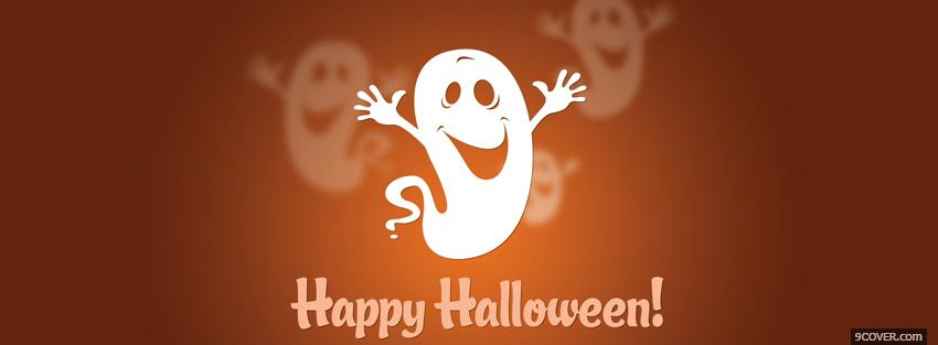Photo happy halloween ghost Facebook Cover for Free
