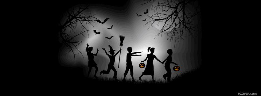 Good Download Free Kids On Halloween Night Fb Cover