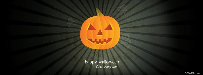Photo orange pumpkin halloween Facebook Cover for Free