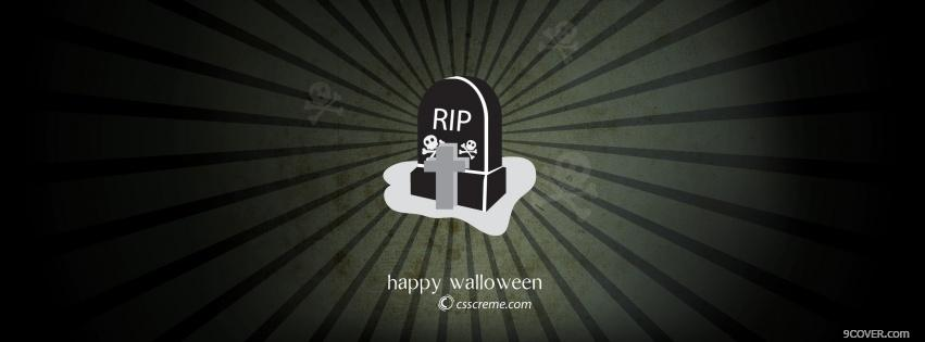 Photo r i p halloween Facebook Cover for Free