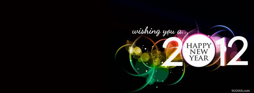Photo wishing happy new year holiday Facebook Cover for Free