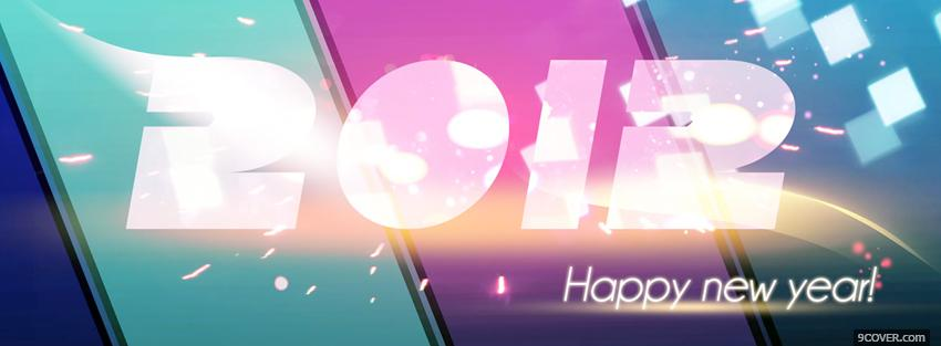 Photo big new year holiday Facebook Cover for Free