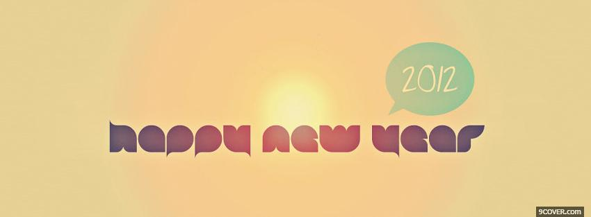 Photo simple new year holiday Facebook Cover for Free
