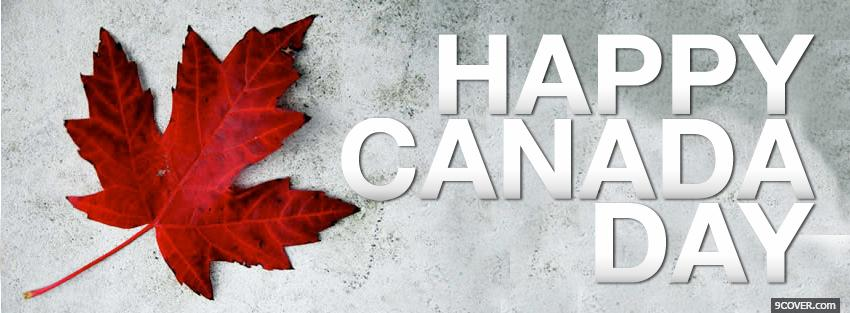 Photo canadian leaf holiday Facebook Cover for Free