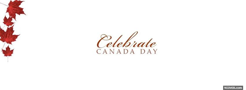 Photo celebrate canada day holiday Facebook Cover for Free