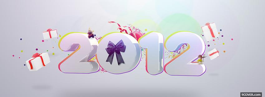 Photo new year 2012 holiday Facebook Cover for Free