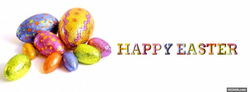 Photo eggs happy easter holiday Facebook Cover for Free