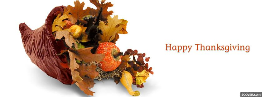 Photo thanksgiving decorations holiday Facebook Cover for Free