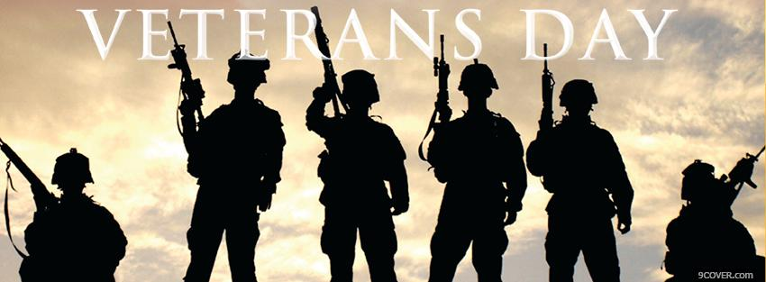 Photo veterans day holiday Facebook Cover for Free