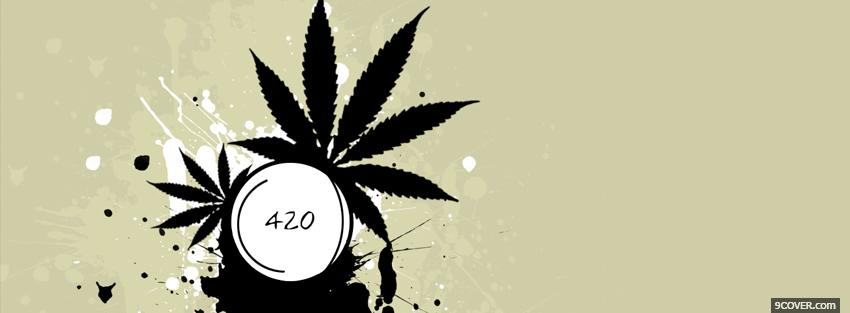Photo 420 weed holiday Facebook Cover for Free
