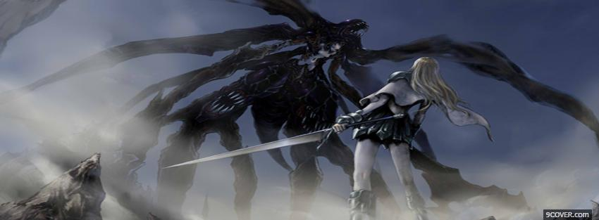 Photo fighting monster anime manga Facebook Cover for Free