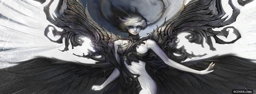 Photo woman angel manga Facebook Cover for Free
