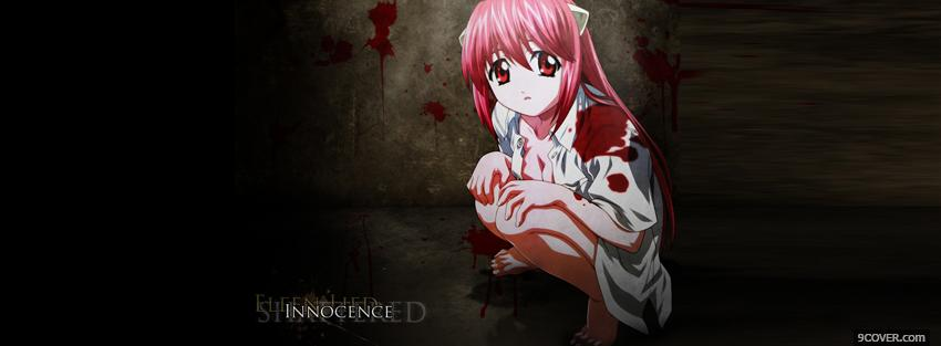 Photo innocence blood girl manga Facebook Cover for Free