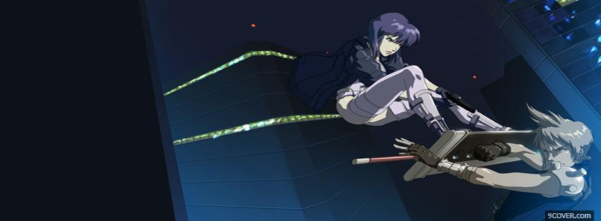 Photo two people fighting manga Facebook Cover for Free