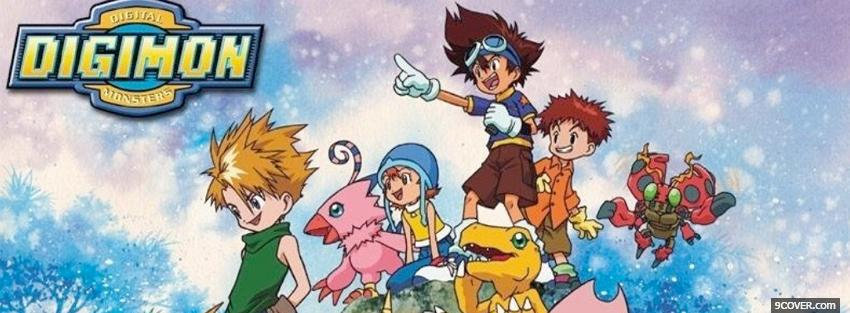 Photo digimon manga Facebook Cover for Free