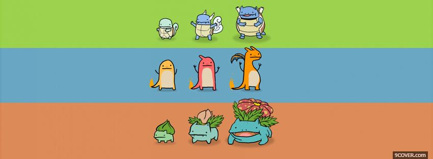 Photo pokemon evolution Facebook Cover for Free