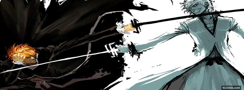 Photo bleach fighting manga Facebook Cover for Free
