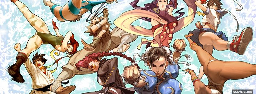 Photo sakura street fighter manga Facebook Cover for Free