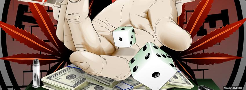 Photo dices and money manga Facebook Cover for Free