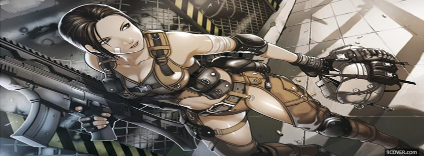 Photo combat arms anime manga Facebook Cover for Free