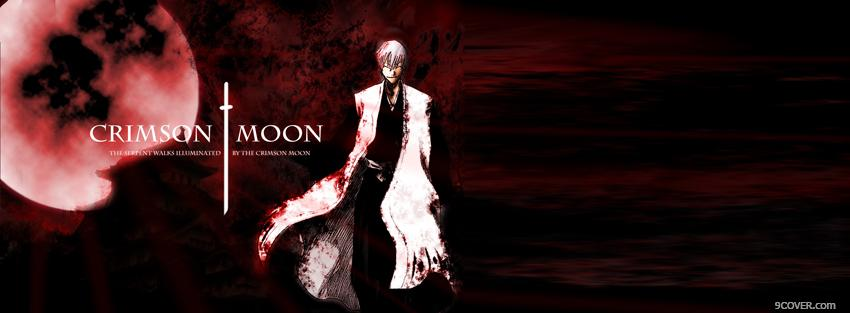 Photo crimson moon red manga Facebook Cover for Free