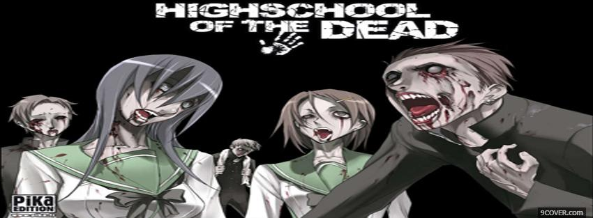 Photo highschool of the dead manga Facebook Cover for Free