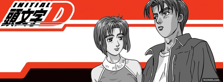 Photo initial boy girl manga Facebook Cover for Free