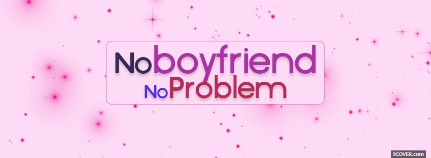 Photo no problem quotes Facebook Cover for Free