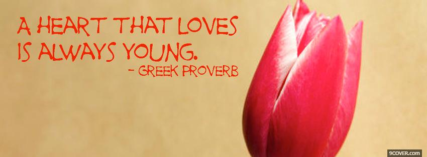 Photo always young quotes Facebook Cover for Free
